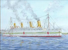 HMHS Britannic anchored by rhill555