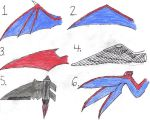 Dragon wing types by busterclaw