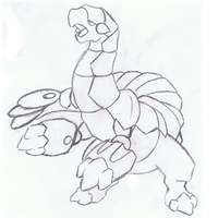 Legendary Fakemon Sketch by mssingno