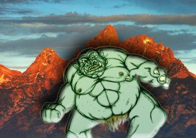 Mountain Ogre 'colored' by QuintinRWhite