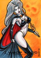Lady Death sample sketch card by JWadeWebb