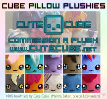 Pony Cube Pillow Plushies FOR SALE by Ccarcia3