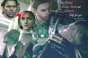 Chris RedfieldxJill Valentine by redfield37