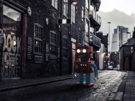 Vintage Old Robot Toy by giacko