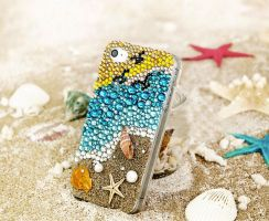 crystal-coast-iphone-case by tracylopez