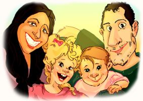 family caricature 1 by Dyadrov