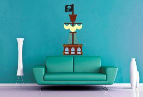 Pirate Ship Wall Decal by GeekeryMade