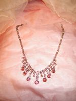 Pink Rhinstone Necklace by SerendipityStock
