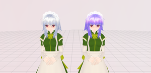 Vote|#1: Annie hair: White or purple? by Katsumi-chu