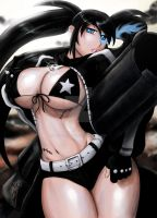 Black Rock Shooter in colr by Bfetish