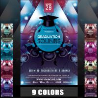 GRADUATION SOUNDS FLYER TEMPLATE by MCerickson