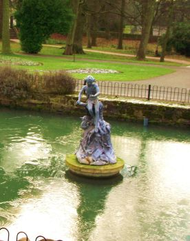 Roundhay: Nymph Statue by BearSanguine
