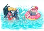 Adventure Time - Summer Marceline and Bubblegum by KaiKoa