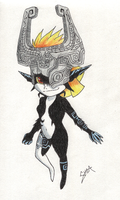 Midna Pencil Crayon'd by Shea-the-Celt