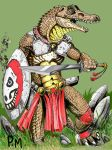Gator man 2 color by PM-Graphix