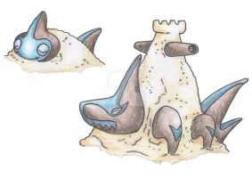 Sand Shark Pokemon by JoshKH92