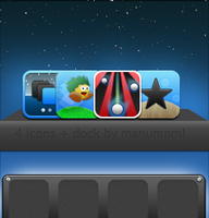 Carol : 4 icons + rqst Dock by Manumnml