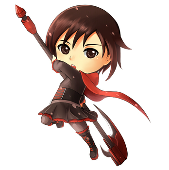 Ruby RWBY Chibi Commission Sample by FirstiArt