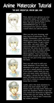Anime Watercolor Tutorial by Tsuchan