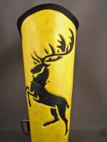 Leather bracer - Baratheon - Game of Thrones by IsilWorkshop