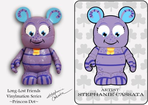 Vinylmation 3'' Princess Dot Custom by StephanieCassataArt