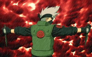 Kakashi wallpaper wide by psy5510