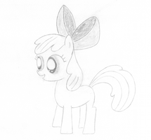Artist Training Grounds, day 5: a pony as a filly by schneelocke