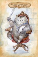 Cat with a sword by ArtGalla