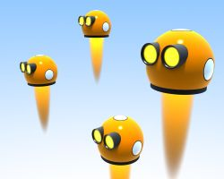 Flying RoboEyes by HolgerL