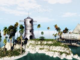 Steampunk Island by vicster56