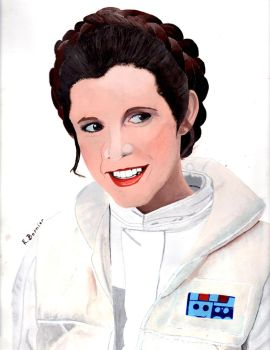 Princess Leia Painting (Tribute to Carrie Fisher) by MermaidGirlForever