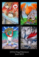 Flying Pokemon - ATC by Merinid-DE
