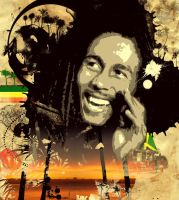 Bob Marley: Calypso Pop Art by smoothdog2000