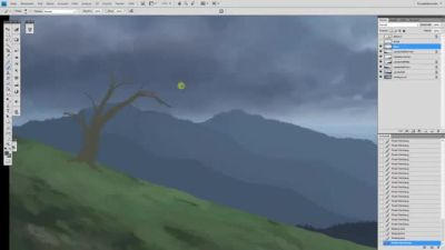 Landscape Speedpainting 'Comforting Tranquility' by LordDoomhammer