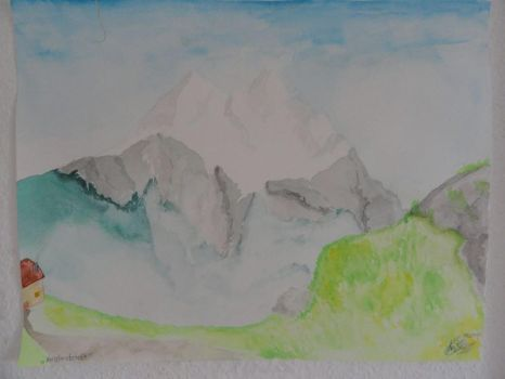 Mountain landscape by Akid4