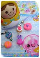 Sweet - Fimo Clay Charms - by Frootytoo