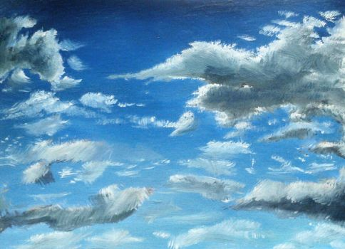Sky and clouds oil painting  by KNIG0N77