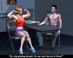 Losing at Arm Wrestling by Lingster