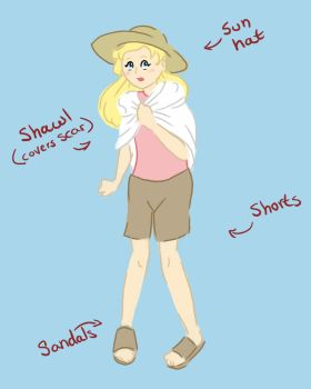 Sarah's Summer Outfit by BishiLover16