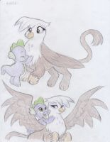 Gilda and Spike by Lacedra