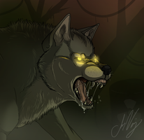 Speedpaint: Growl by Naoki-Wolf