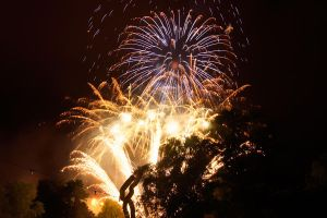 Nightshot of a firework in the Gruga Park 2 by ParaMAX