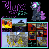 Minecraft: Nyx Pony Skin 2.0 Screencaps by Jovey4
