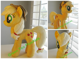 Applejack plush with hat by GreenTeaCreations