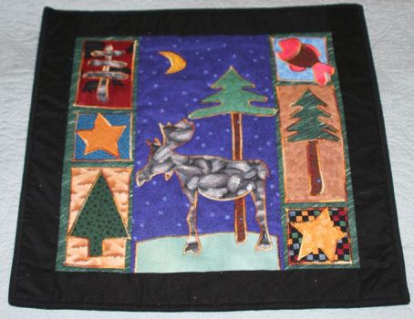 Moose and Tree Wall Quilt by MN-Vixen