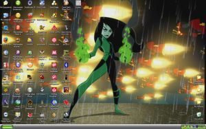 Shego looks Badass in the Rain by ShadigoXPossible