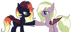 Bat Friends Brohoof [GIFT] by Pikachumaster