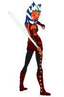ahsoka new look colored by ecanerdygirl