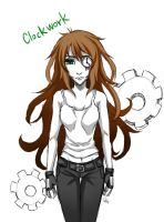 creepypasta clockwork by DeluCat