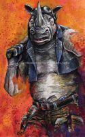 TMNT - Rocksteady Painting by NateMichaels
